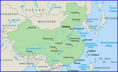 Отдых китае карта китая
